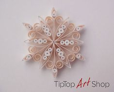 Quilled Christmas Ornament Paper Snowflake in by TipTopArtShop