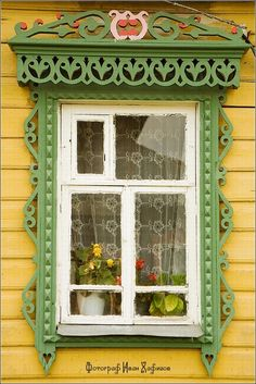 Myshkin town, Russia windows frames view 11