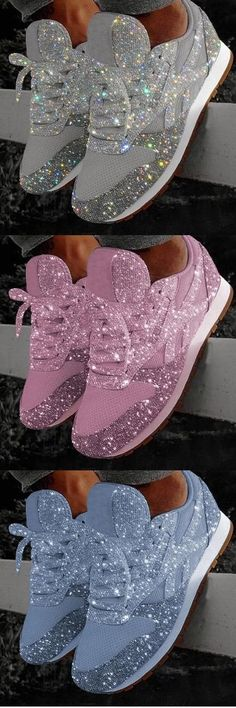 OFF Today!Women Muffin Rhinestone New Crystal Platform Sneakers - Schuhe - Zapatos Cute Shoes, Me Too Shoes, Platform Sneakers, Shoes Sneakers, Sneakers Fashion, Fashion Shoes, Lace Up Heels, Blue Fashion, Designer Shoes