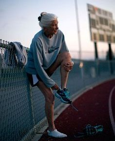 Joy, the oldest woman competing in the New York City marathon at age 84.
