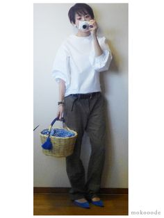 モコーデ: プチプラボリューム袖とワークパンツの甘辛ミックスと看護師さんオススメのサプリ 5月16日