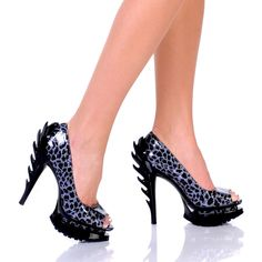 Flame 5 inch Peep Toe Pumps $99.98