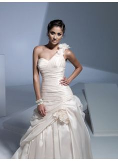 wedding dresses wedding dresses with straps wedding dresses with lace sleeves a-line one shoulder flower ruching brush train organza wedding dresses we3301
