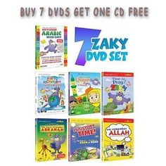 http://muslimzon.3dcartstores.com/Zaky-Series--Set-of-7-DVDs-and-1-CD-Collection--SAVE-13--One4kids_p_128.html Zaky Sound Track is FREE with this special pack of full range of Zaky DVDs including: 1.     Let's Learn Arabic with Zaky   2.     Let's Learn Quran with Zaky & Friends   3.     Zaky's Adventures - Earth Has a Fever   4.     Time to Pray with Zaky   5.     We Remember Allah Storytime