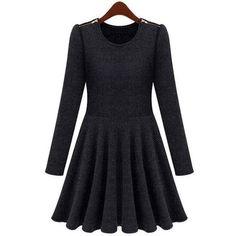 Petit4You - Vestido Inverno Cinza