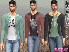 Male sweatshirt by sims2fanbg at TSR via Sims 4 Updates