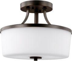 0-008888>Hettinger 2-Light Energy Star Indoor Semi-Flush Convertible Burnt Sienna