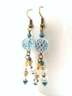 Greek Mediterranean Inspired Earrings by bearTreeLiving on Etsy, $16.50