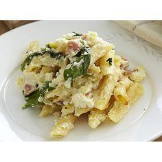 Ricotta and bacon pasta bake recipe. #Italian #Lunch #Bacon #PastaRecipe