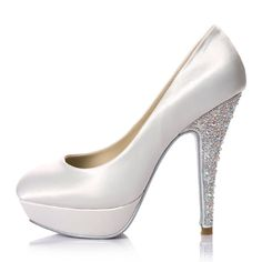 White Lace Wedding Shoes  Heels  Pinterest  Lace shoes Pump