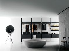 Open Wardrobe Hanging, drawers below