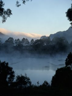 Lake Roseberry, Tasmania on a brisk winter morning.