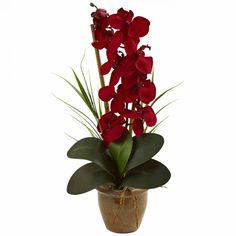 Folha de orquídea artificial│Decora Flores Artificiais Vem conhecer nosso site, temos tudo para você criar este lindo arranjo.