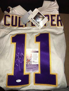 a9e28359561 Vikings Daunte Culpepper Signed Authentic Reebok Jersey Size 52 JSA Cards  Bobble #Reebok #MinnesotaVikings