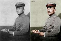 Manfred von Richthofen (The Red Baron) - mit Orden Pour le Mérite - 6/4/17 (Bundesarchiv)