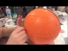 The Making of a Carved Basketball Cake Timelapse (cool trick turning cake/frosting scraps into molding to help give it shape)