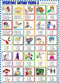 Everyday action verbs