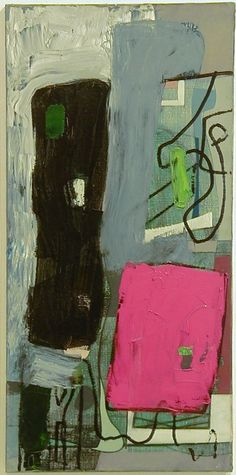 Patrick Heron, Abstract : Red and Black : August 1952 Patrick Heron, Post Painterly Abstraction, Abstract Art Images, Cool Paintings, Abstract Expressionism, Painting Inspiration, Les Oeuvres, Illustration Art, Artwork