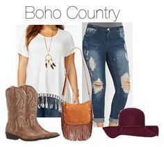 Boho Country by smilesmakesunshine on Polyvore featuring polyvore, Mode, style, American Rag Cie, Street Level, WILD & FREE, Old Navy and country