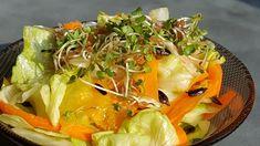 Vaříme bez tuku: Salát s naklíčenou rucolou a slunečnicovými semínk...