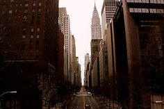 Looking West Down 42nd Street - Print For Sale - http://www.redbubble.com/people/amandavontobel/works/8850529-looking-west-down-42nd-street