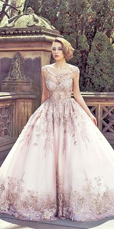 18 Various Ball Gown Wedding Dresses For Amazing Look ❤️ Ball gown wedding dresses are timeless and classic. This silhouette suits for all types of bodies. See more: http://www.weddingforward.com/ball-gown-wedding-dresses/ #wedding #dresses