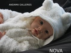 Reborn baby Nova created at Andama Galleries using a Krista sculpt by Linda Murray