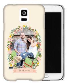 Floral Frame Samsung Galaxy Case, Slim case, Glossy, Samsung Galaxy S5, DynamicColor
