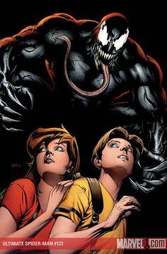 #Venom #Fan #Art. (Ultimate Spider-Man Vol.1 #123 Cover) By: Stuart Immonen. (THE * 5 * STÅR * ÅWARD * OF * MAJOR ÅWESOMENESS!!!™) ÅÅÅ+