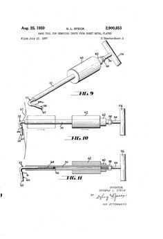 Patent US2900853 - Hand tool for removing dents from sheet metal plates - Google…
