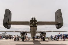 DAYTON, Ohio (04/2017) -- Eleven B-25 Mitchell bombers were on static display at the National Museum of the U.S. Air Force on April 17-18, 2017, as part of the Doolittle Tokyo Raiders 75th Anniversary. (U.S. Air Force photo by Kevin Lush)