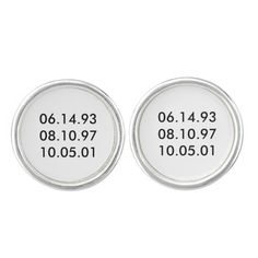 "Give him a gift to remind him of those special dates in his life with ""Special Dates"" Siver Plated Cufflinks."