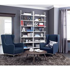AuBergewohnlich Kinderzimmer Ideen Wand Streifen Blau Weiß Etagenbett | Deco Casa |  Pinterest | Babies