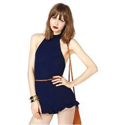 sexy vestido de estilo elegante de color azul