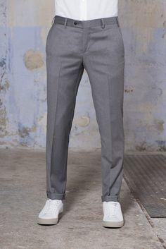 pantalone - Pini Parma Pantalon Costume, Grey Trousers, Parma, Tights, Italy, Slim, Pure Products, Cotton, How To Make