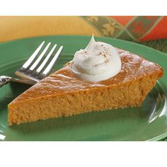 Crustless LIBBY'S® Famous Pumpkin Pie   Meals.com - The perfect solution for those who love creamy pumpkin pie filling, but don't enjoy the crust. Try this crustless version of Libby's Famous Pumpkin Pie to enjoy more of what you love. This pumpkin dessert can be enjoyed throughout the year. #CrustlessPie #CrustlessPumpkinPie