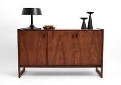 Vintage Walnut Credenza - Mid Century, Modern, Wood, Sideboard, Buffet