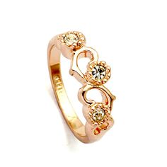 Brand TracyKwok Genuine austrian crystal  gold Color Rings for Women healthy Anti Allergies   #RG95777Gold #Affiliate