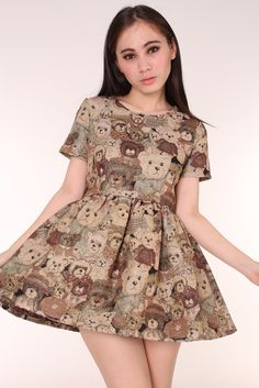Image of Made To Order - Teddy Bear Tapestry Dress