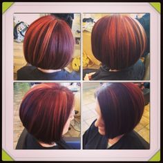 Multi tonal red bob Added by Stef Kaufman to BTC Community Get her formula! #StefKaufman
