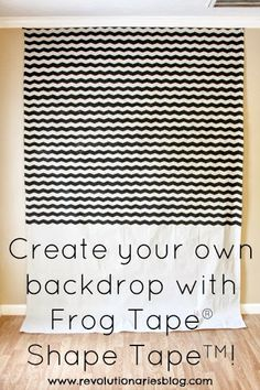 Revolutionaries: Create Your Own Backdrop with Frog Tape® Shape Tape™!