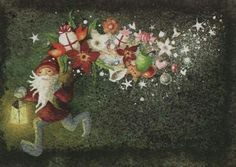 katja sario Winter Magic, Christmas Graphics, Illustration Art, Art Illustrations, White Christmas, Painting, Artists, Elves, Fairies