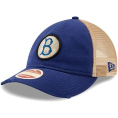 db99f4a423f Men s Brooklyn Dodgers New Era Royal Cooperstown Collection Front Patched  Trucker 9TWENTY Adjustable Hat