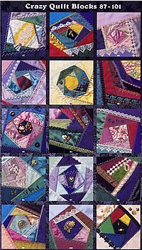 101 Crazy Quilt Blocks by Linda Causee