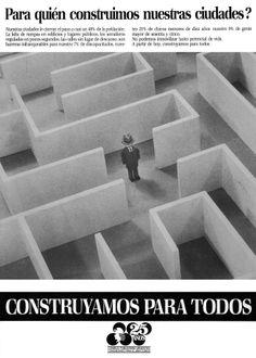 """""""Construyamos para todos -laberinto""""-1984"""