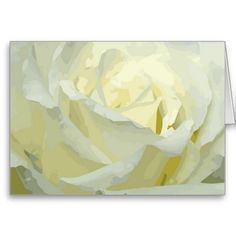 All Occasion Floral Rose White Elegant Greeting Card
