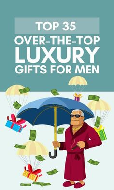 Budget isn't a restricting factor? For those of you who'd like to truly spoil him, check out this list with over-the-top luxury gifts for men. Tech Gifts For Men, Luxury Gifts For Men, Best Gifts For Him, Presents For Men, Gifts For Dad, Family Gifts, Kids Gifts, Expensive Gifts For Men, Man Birthday