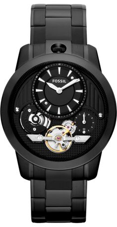 Fossil Watches, Men's Grant Twist Stainless Steel Watch - Black #ME1131