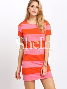 Shop Multicolor Short Sleeve Striped Dress online. SheIn offers Multicolor Short Sleeve Striped Dress & more to fit your fashionable needs.