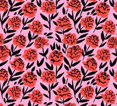Red Peonies Art Print by Leah Reena Goren - X-Small Motifs Textiles, Textile Patterns, Textile Prints, Print Patterns, Floral Patterns, Lino Prints, Block Prints, Illustration Blume, Pattern Illustration